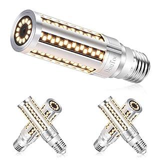 [4 Pack]Fanless 15W Super Bright Corn LED Light Bulb(150 Watt Equivalent) - 3000K Warm White 2200 Lumens - E26 Base Candelabra LED Bulb for Large Area Commercial Ceiling Light - Garage Porch Yard