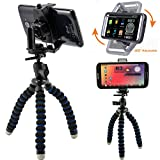 ChargerCity MegaGrab2 Flexible Tripod Periscope Selfie Kit for Apple iPhone X / 8 / 7 Plus / 6s Samsung Galaxy Note 8 / S8 S7 Edge / LG G6 V30 (Holder can expand up to 3.6 inches)