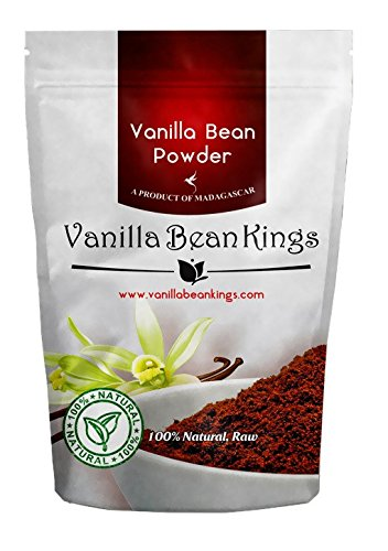 Natural Vanilla Bean Powder, Raw Ground Vanilla Beans, 4 oz, Unsweeted, NonGMO, Gluten-Free, Freshly Ground Before Packaging