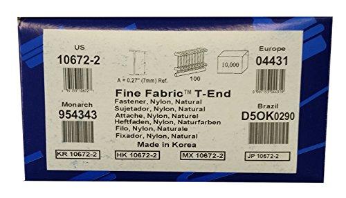 """1/4"""" Fine Fabric T-End Fasteners (10,000/box)"""