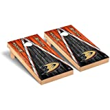 Victory Tailgate Anaheim Ducks NHL Desktop Cornhole Game Set Weathered Triangle Version