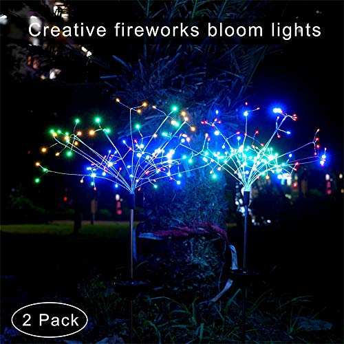 Etercycle Outdoor Solar Garden Decorative String Lights,Upgrade Bright LED Solar Powered 8Modes Landscape Stake Lights,DIY Larger Flowers Jellyfishs for Pathway Deck Fence Patio Christmas Decoration