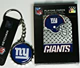 New Yorks Giants Playing Cards and Bottle Cap Opener Keychain
