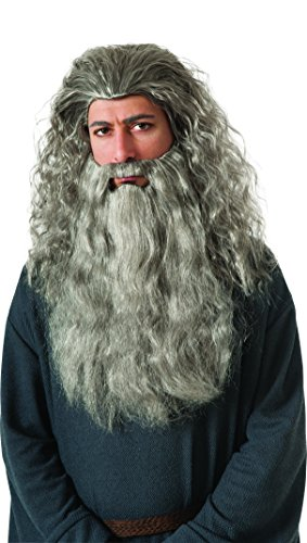 Rubie's Costume The Hobbit Gandalf Beard Kit, Gray, One (Costume Beards For Sale)