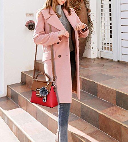 Mujer bolsos y Burdeos hombro Shoppers de Carteras Bolsos de clutches bandolera y mano rqvCwEWr
