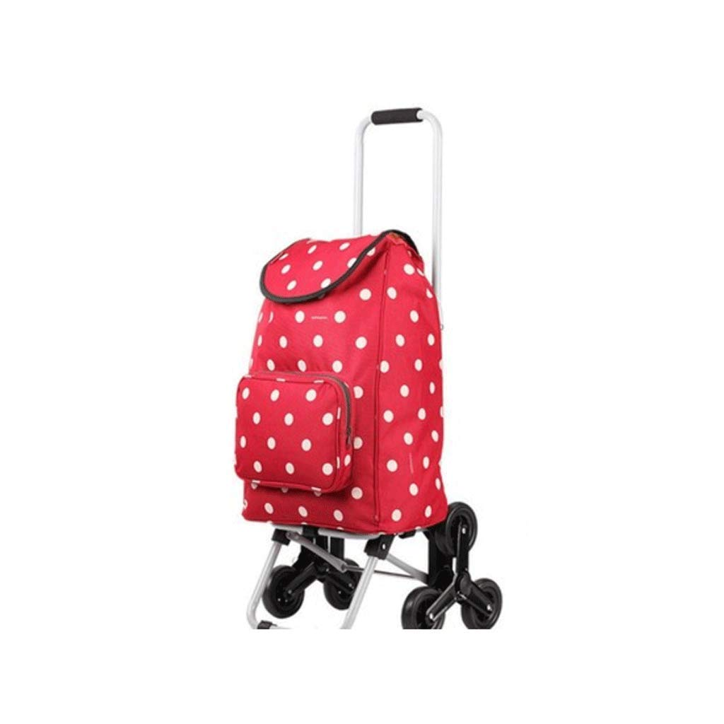 Qivor Stylish Foldable Portable Waterproof Trolley wear-Resistant wear-Resistant Rolling Wheel Smooth (Color : A)