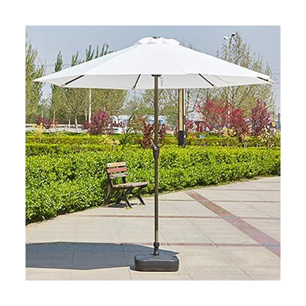MENG Ombrellone Esterno da 2,5 M Ombrellone Tondo di Ferro Ombrelloni con Protezione Solare E UV Ombrelloni da Giardino… 5 spesavip