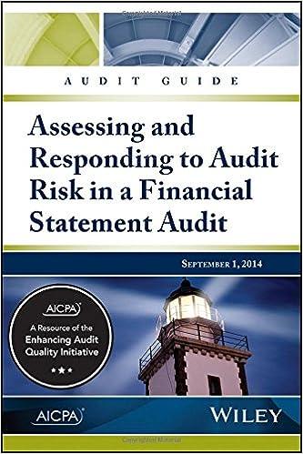 Audit guide assessing responding to audit risk in a financial audit guide assessing responding to audit risk in a financial statement audit 1st edition fandeluxe Gallery