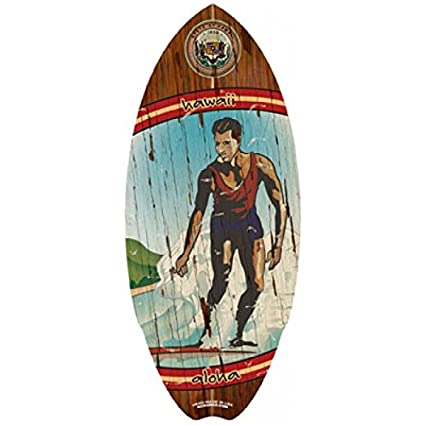 Mini Hawaiano de Madera Tabla de Surf Hawaii Madera decoración de Playa Junta Surfer Beach