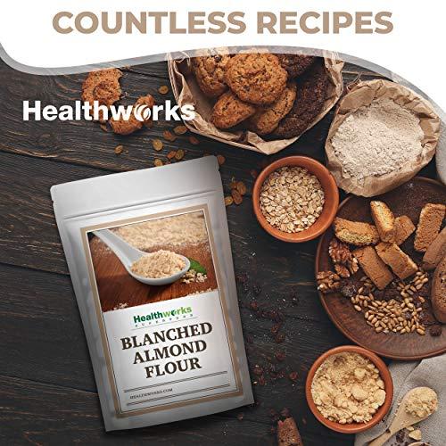 Healthworks Blanched Almond Flour (32 Ounces / 2 Pounds) | Super Fine Powder | All Natural, Grain Free, Keto, Vegan & Paleo | Healthy Flower Substitute | Low/Zero Carb | Premium Superfood
