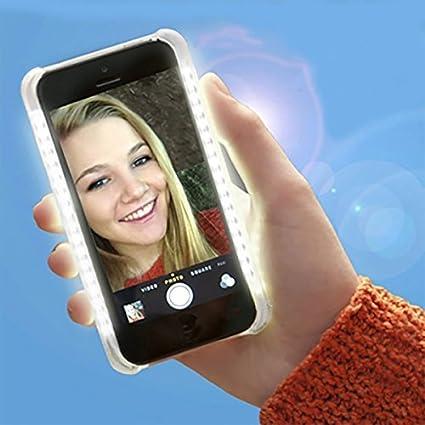 Mojo Selfie Flash Coque avec lumière LED pour iPhone 7 (Or rose ...