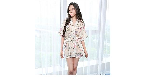 CWJ Lencería Sex Sex Pijamas Transparentes Batas de Gasa Kimono Uniformes Faldas de Mujer Extremamente Atractivo, UN,Código Promedio: Amazon.es: Hogar