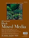 Strathmore 462-509 400 Series Black Mixed Media