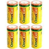 6x OmniCel ER26500HD 3.6V Sz C Lithium Standard Terminal Battery AMR Detectors