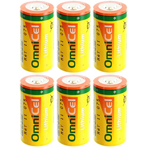 6x OmniCel ER26500HD 3.6V Sz C Lithium Standard Terminal Battery AMR Detectors by Exell Battery