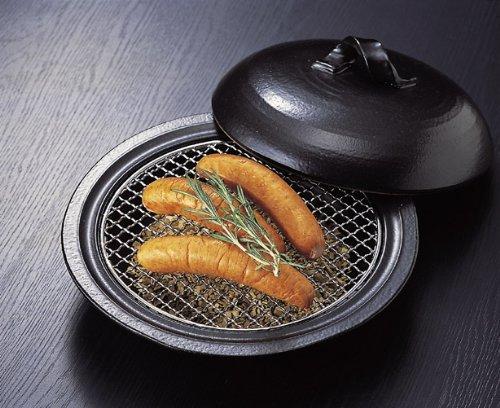 燻製 多用鍋・金網付き 万古焼