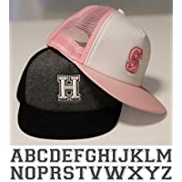 Personalised Kids Children's Letter Alphabet Trucker Baseball cap - Embroidered With Your Child's Name Initial. Boys and…