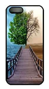 fantasy tree PC Case Cover for iPhone 5 and iPhone 5s Black