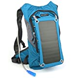 Hydration Pack with 2 Bladder, 7W Solar Phone Charger and 10,000mAh 2-Port Power Bank for iPhone Samsung LG Smart Phone Tablet- Biking, Hiking, Camping, or any Outdoor Sports