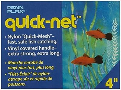 Penn Plax Quick Net Fish Tank Aquarium Wire Mesh Catch Net, 4-Inch