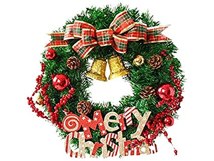 Decorazioni Per Porte Natalizie : Bellissima decorazione natalizia plaid bow christmas ghirlanda