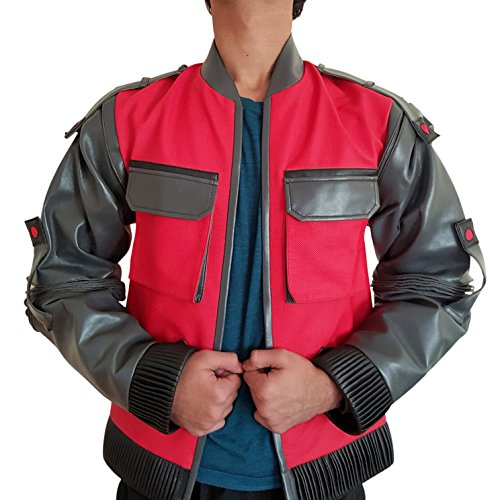 Back to the Future 2 Jacket / Marty McFly 2015 costume Red (Medium) - Back To The Future Shoes