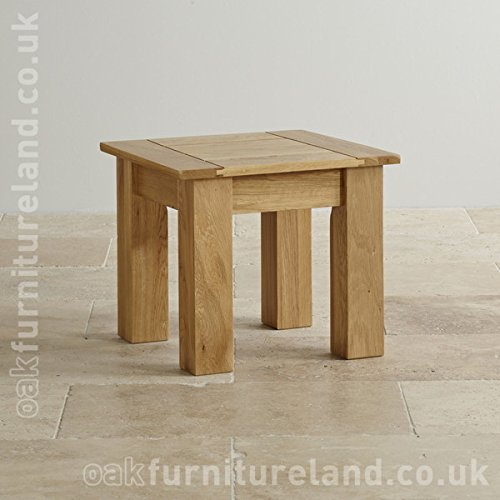 Contemporary Natural Solid Oak Side Table Amazon.uk Kitchen