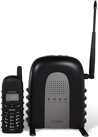 EnGenius durafon 1 x Industrial permite sistema de teléfono inalámbrico de largo alcance con radio de