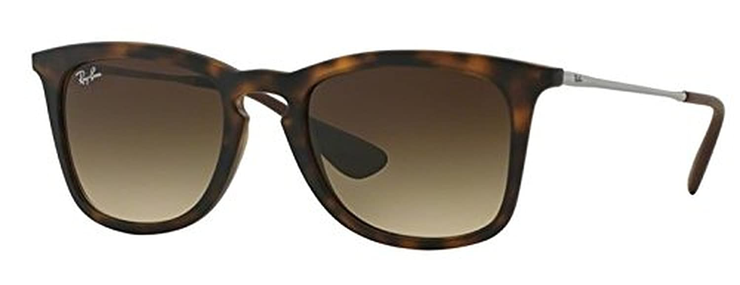 fba8fd34dd Amazon.com  Ray-Ban Youngster RB 4221 Sunglasses Dark Rubber Havana Brown  Gradient 50mm   HDO Cleaning Carekit Bundle  Clothing