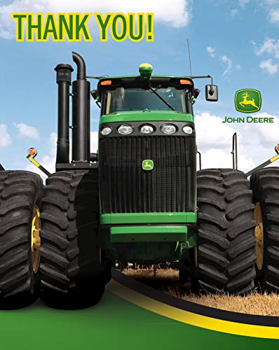 BirthdayExpress John Deere Tractor - Thank-You Notes - Thank Deere John You