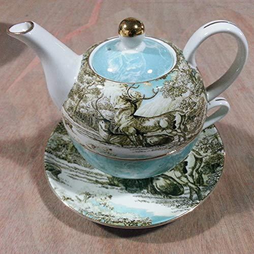 - mqlerry Teapot Ceramic Set Coffee Pot Traditional Teapot Cold Kettle Afternoon Tea European Coffee Cup, Saucer, Tea Set, Teapot Flower Tea Set, English Type Mother Pot.