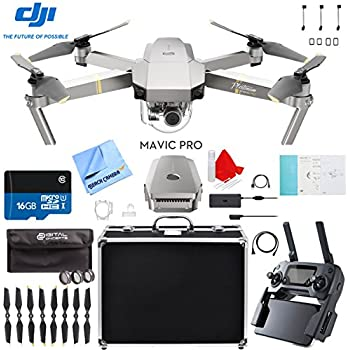 DJI Mavic Pro Platinum Quadcopter Drone with Aluminum Case Plus Filter Kit and Accessories Bundle