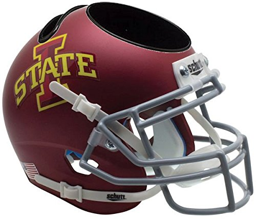 Iowa State Cyclones Miniature Football Helmet Desk Caddy - NCAA Licensed - Iowa State Cyclones Collectibles Cyclones Replica Mini Helmet