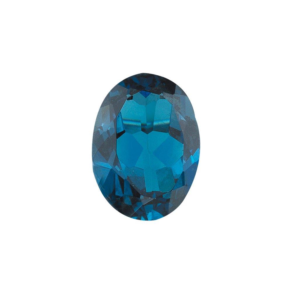 Mysticdrop 7.00 Cts of AAA 14x10 mm Oval Loose London Blue Topaz (1 pcs) Gemstone