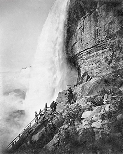Restored 16x20 Black & White Photo - Historic Niagara Falls, New York - The Cave of the Winds, c1910 (Cave Of The Winds Niagara Falls New York)