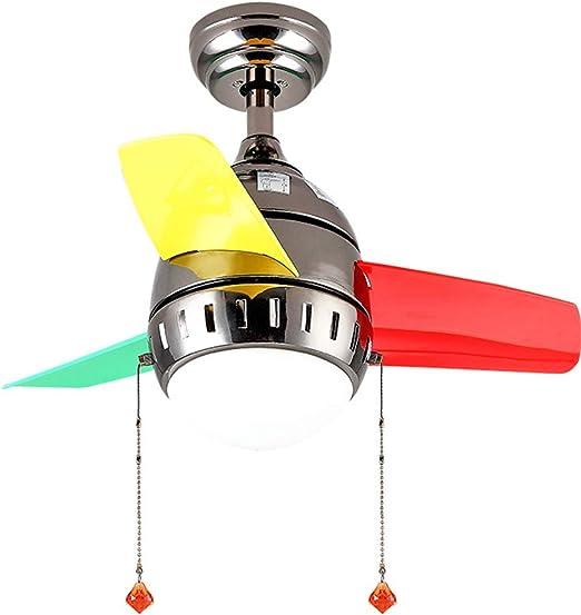 Ventilador de Techo para niños + lámpara Nordic Simple Moderno ...
