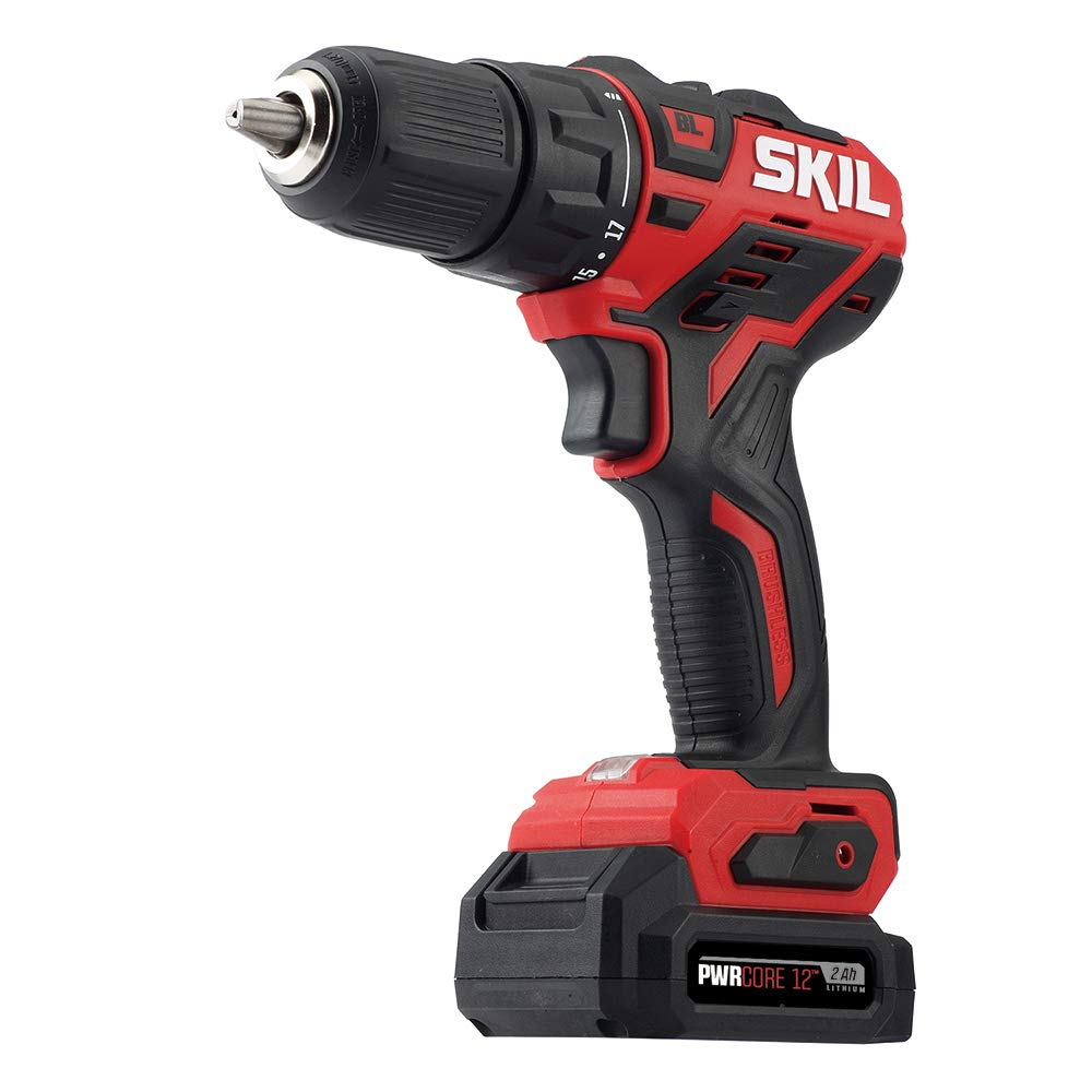 SKIL PWRCore 12 Brushless 12V 1/2 Inch Cordless Drill Driver, Includes 2.0Ah Lithium Battery and PWRJump Charger - DL529002 by Skil (Image #9)
