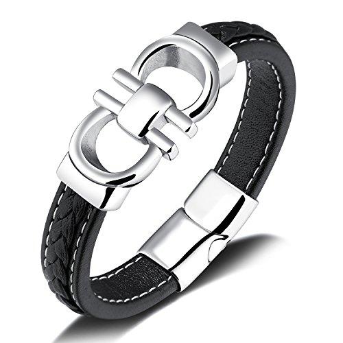 Salvatore Limited Edition Triple Crown Gancini Horsebit Bracelet - Fits 8.3 inch Wrist (Larger Wrists)