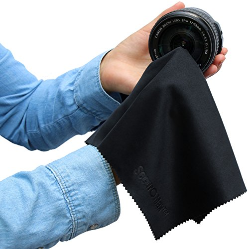 Microfiber Cleaning Cloth For Camera Lens: Microfiber Cleaning Cloth 12x12 Inch (6 Pack) For Lens