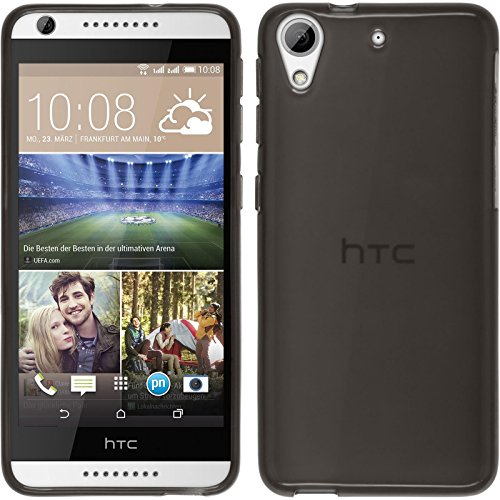 CellMACs Snap-On TPU Rubber Gel Case Cover for HTC Desire 626 HTC Desire 626G HTC Desire 626G+ - Gray / Smoke