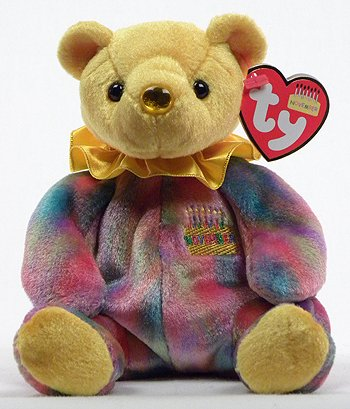 Image Unavailable. Image not available for. Color  Ty Beanie Baby November  Topaz Birthstone Teddy Happy Birthday Bear ea084395b9ee