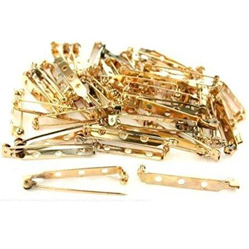 - 60 Bar Pin Backs Broach Hat Badge Jewelry Safety Parts