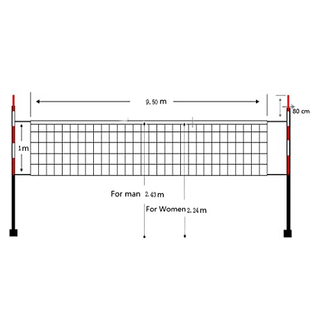 amazon com sqdeal 32ft x 3ft sport classic volleyball net for rh amazon com Rally Volleyball Diagram Volleyball Court Dimensions