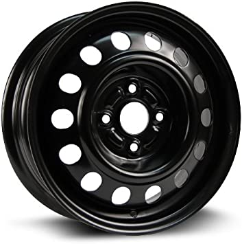 14x5.5 New Aftermarket Wheel RTX black finish X99148N Steel Rim 45 4-100 57.1