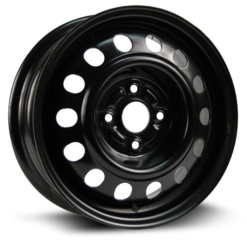 RTX, Steel Rim, New Aftermarket Wheel, 14x5.5, 4-100, 54.1, 45, black finish X40720 (4 X100 Rims)