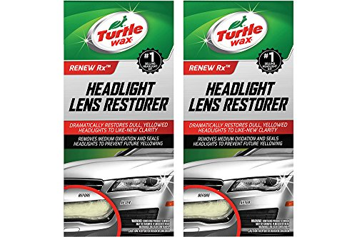 Turtle Wax T-240KT Headlight TWFAW Lens Restorer Kit, Two Units