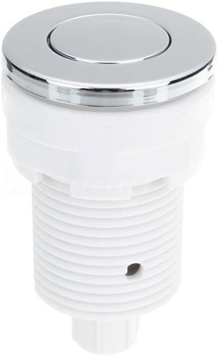 28 mm White//28mm UxradG 28//32//34 mm Impermeable Aire Presi/ón Interruptor Ba/ño SPA Masaje Ba/ño Garbage Desag/üe Juguete Interruptor de Aire Pulsador Bot/ón