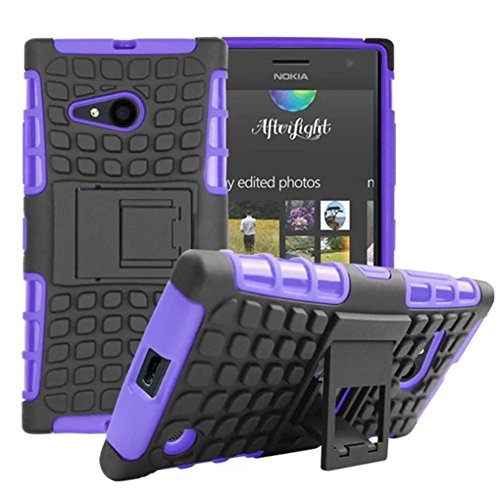 Click to buy DRUnKQUEEn Microsoft Nokia Lumia 730 /735 Case, Heavy Duty Rugged Hybrid Armor Dual Layer Hard Shell Tread Grenade Grip Cover with Kickstand for Nokia Lumia 730 / Nokia Lumia 735 (Verizon/Sprint) - From only $42.82
