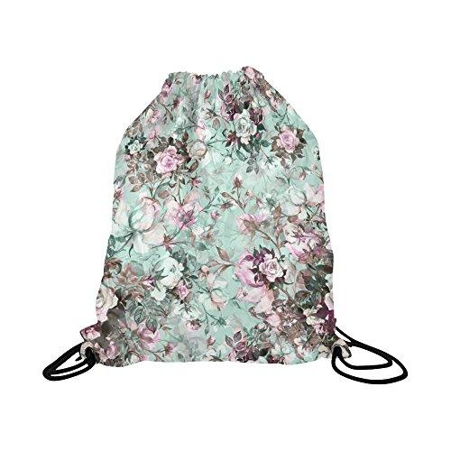 - INTERESTPRINT Watercolor Beautiful Bouquet of Roses Flowers Drawstring Backpack Bag Knapsack Sock Pack Water Resistant for Gym, Travel, School, Kids, Men and Woman
