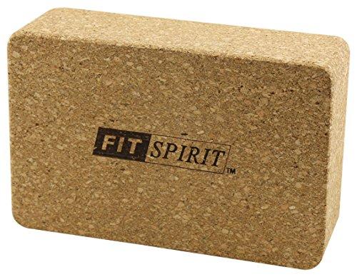 Fit Spirit¨ Cork Wood Exercise Yoga Block - 9